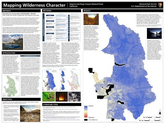 Mapping Wilderness Character in Sequoia and Kings Canyon National Parks
