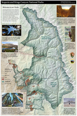 Map created for the DOI Secretary's visit to Sequoia and Kings Canyon National Parks